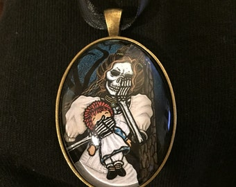 "Handcrafted Giclee Necklace, "" La Llorona 2"""