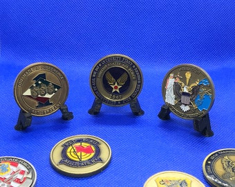 Coin, military coin, coin collection, display, coins, collection
