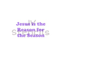 Jesus is the Reason for the Season Stencil