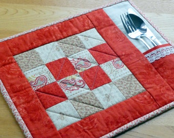 PDF Pattern for 6 Quilted Placemats & Coasters (Beginner)