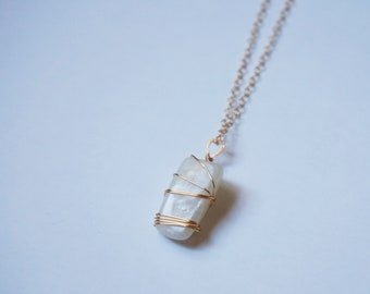 Moonstone Gemstone 14K Gold Filled Chain Necklace