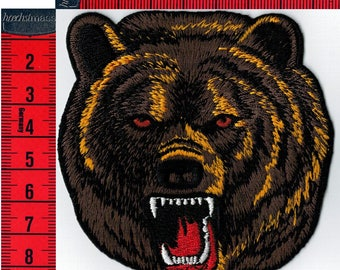 Patch fusible bear embroidered or sew on Patch Applique