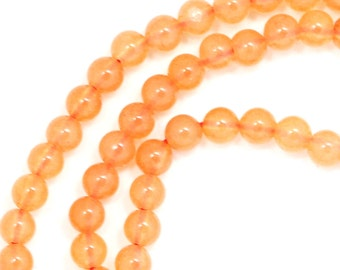 Peach Aventurine Beads - 3mm Round