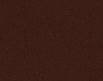 Brown Kona Cotton, Brown Fabric, Robert Kaufman Fabric, Half Yard