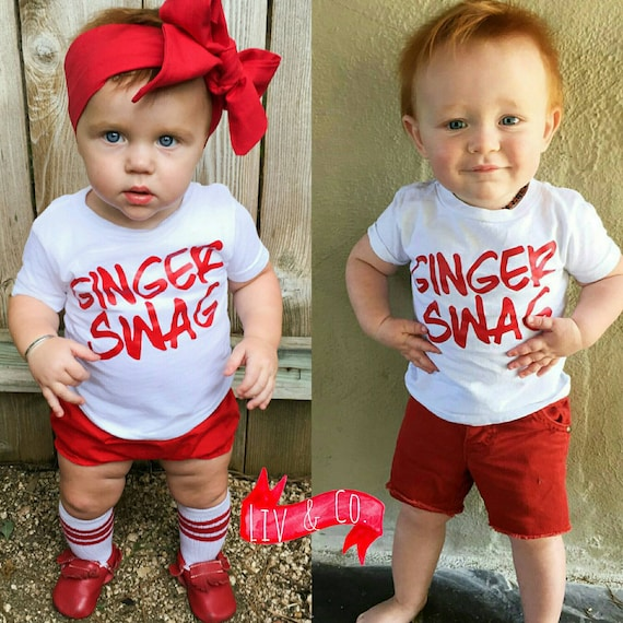 Ginger Swag™ Funny T Shirts Baby Boy Clothes Baby Girl