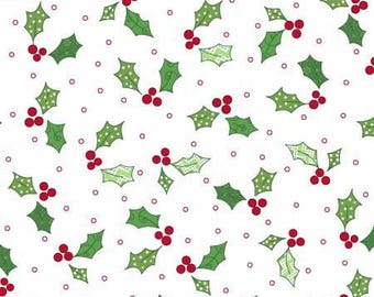 170173 White Holly & Berries, Jingle All The Way by Kim Christopherson Collection