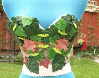 camaouflage white  boned corset size bust 34b