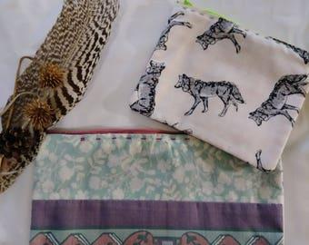 hand made, wolf, make up, wallet, deer