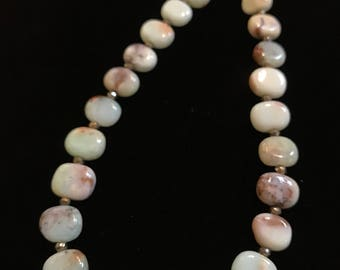 Chrysoprase, Pyrite, and Sterling Silver Necklace