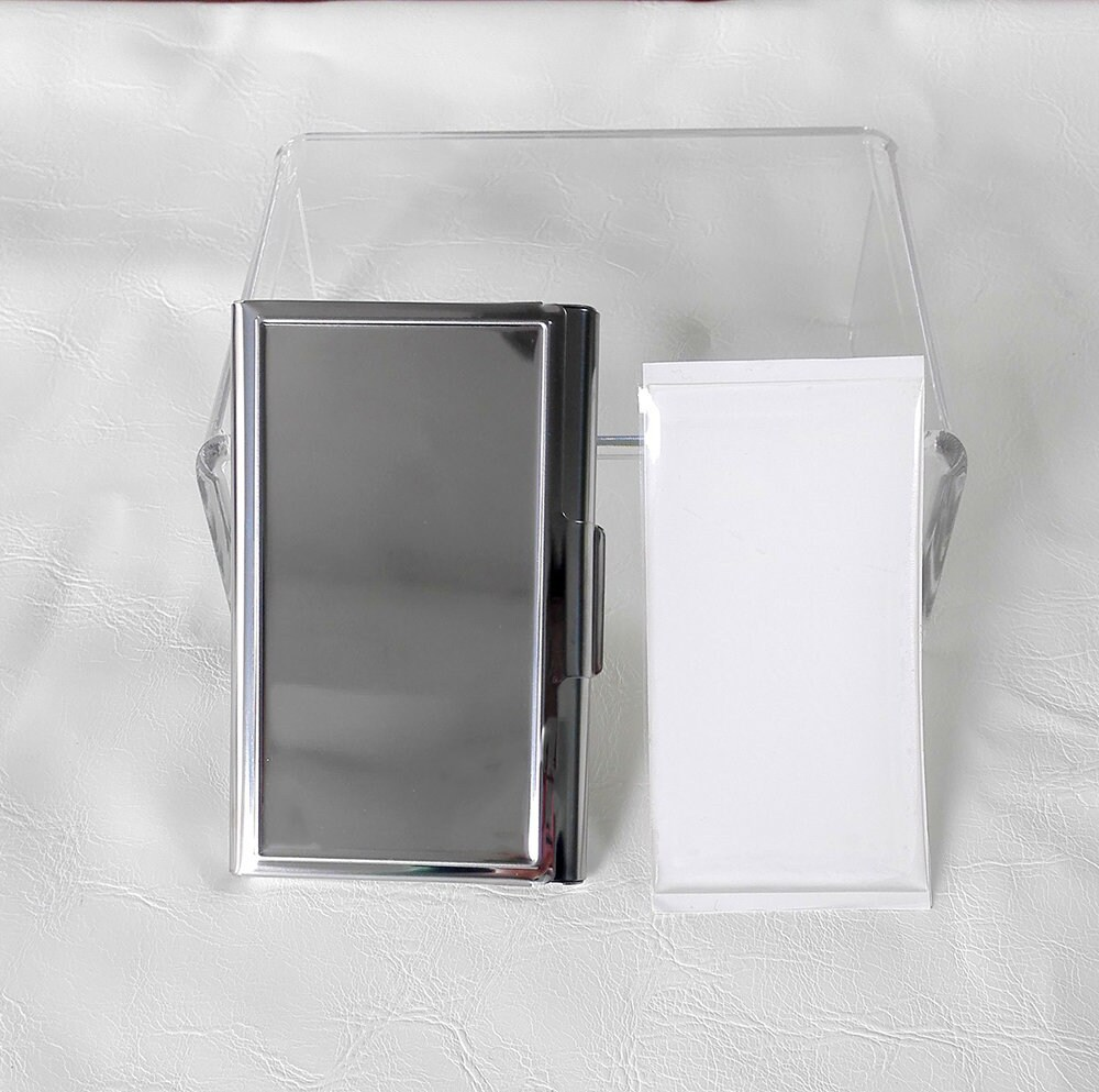 10 Kits-DIY Blank business card card holder, Stainless steel ...