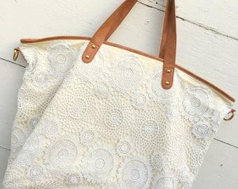 Shabby crochet tote bags,  Large shabby crochet tote bags, Crochet tote bags