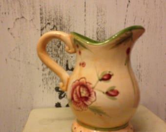 Vintage Ceramic Pitcher plant holder Vase