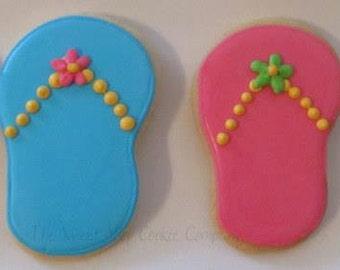 Sweet Summer Flip Flop Cookies 3 dozen