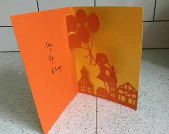 Pop Up Papercut Blank Card Made In The UK