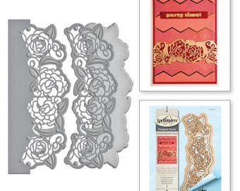 Spellbinders   Shapeabilities Camellia Border Etched Dies from the Rouge Royale Deux Collection by Stacey Caron S4-691
