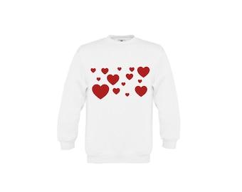 Hearts sweater, Kids love sweater, i love you sweater, kids valentines sweater, valentines day sweater, kids valentines gift, kids hearts