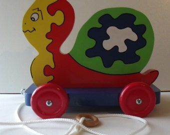 """Toy to draw wood """"multicolor snail"""""""