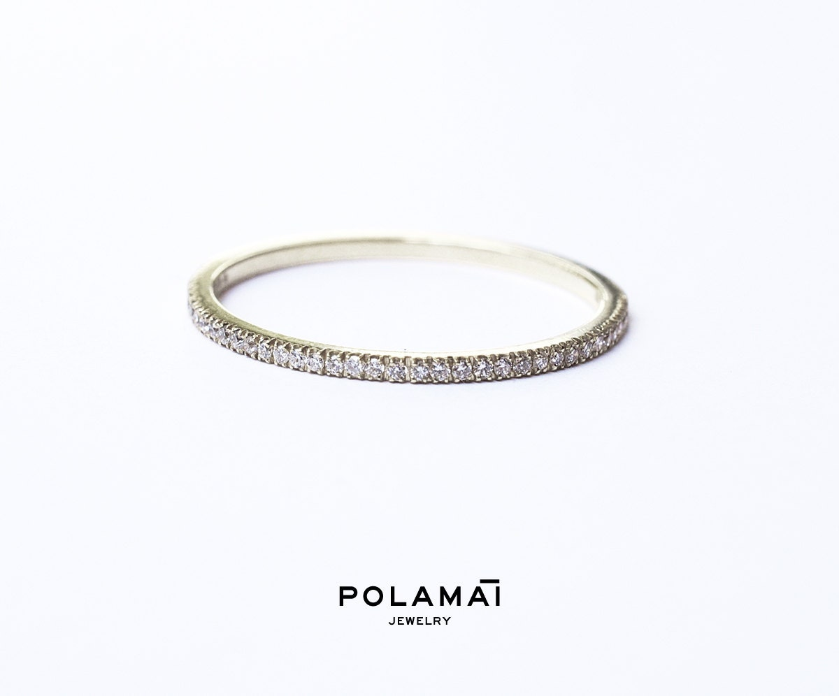 fullxfull il tiny diamond gold bands tin handmade products original eternity micro pave in band ring