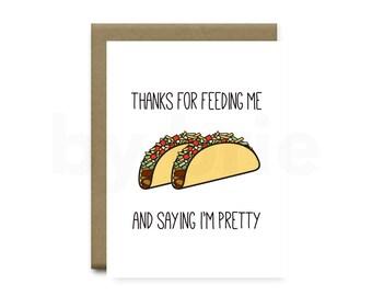 Funny Taco Card, Funny Anniversary Card Boyfriend, Funny Anniversary Card Girlfriend, Funny Anniversary Card for Boyfriend, Anniversary Hus