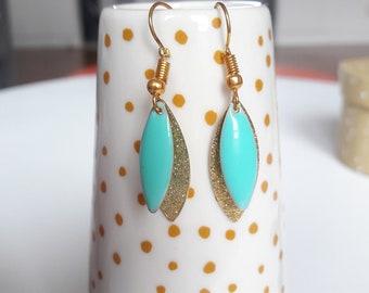 Earrings dangling mint