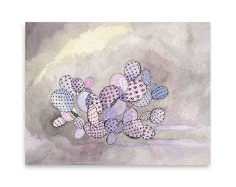 Desert Landscape Greeting Card / Cactus Card / Cactus Art / Blank Card / Mishka Marie