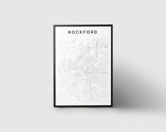 Rockford Map Print