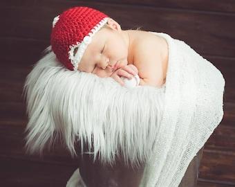 Baseball Hat - Newborn prop hat - Baby boy baseball cap - Pick your colors - Handmade crochet prop hat