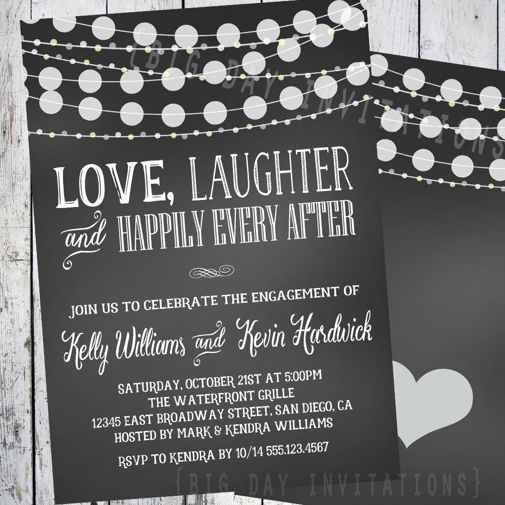 Chalkboard Engagement invitation Engagement Party invitation