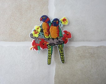 Birds with Flower Patch Iron On