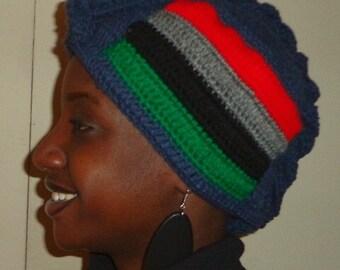 Denim and Power, Crochet African Mohawk Headwrap