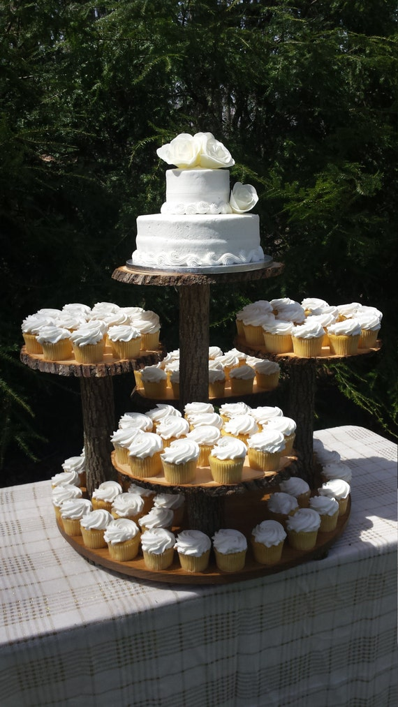 used wedding cake stand rustic cupcake stand log cupcake stand tree cupcake stand 21509