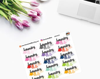 WASHING LINE ~ LAUNDRY Planner Stickers CAM00073
