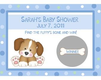24 Baby Shower Scratch Off Game Cards  - Puppy Dog