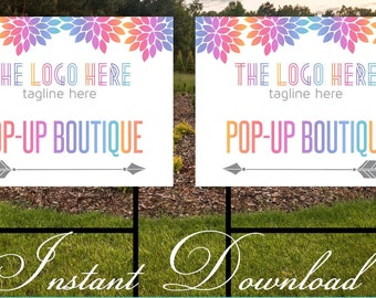 Pop up Boutique Yard Sign | Consultant Sign | Consultant Boutique Sign | Instant Download | 24x18 **DIGITAL FILE ONLY**
