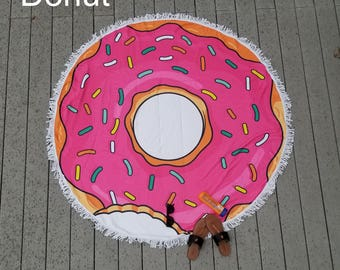Food Themed Round Beach Towels Circle Play Blankets