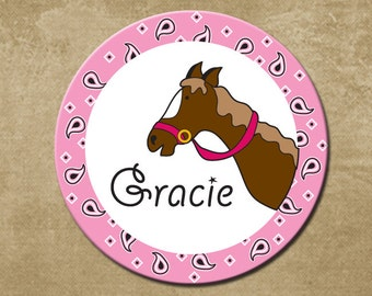 Melamine Plate for Kids Personalized Cowgirl Plate Horse Plate Kids Birthday Gift  sc 1 st  Etsy & Personalized Childrens Melamine Plate Pastel Colors Kids