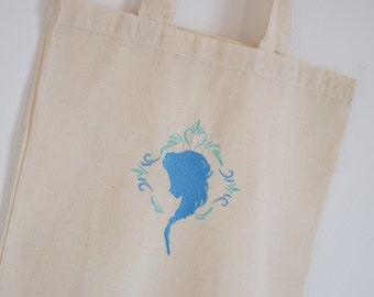 Tote Bag blue snow Queen