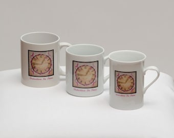 Porcelain Mugs - Detection In Time: Breast Cancer Awareness
