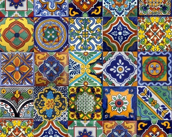 100 Mexican Talavera Tile mix