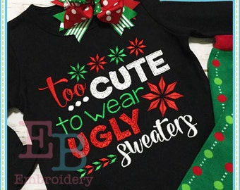 Ugly Sweater Embroidery Design - This design is to be used on an embroidery machine. Instant Download