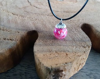 Resin necklace with hearts, colored hearts, memory necklace, glitter jewelry, gift for woman, birthday gift,  colorful, necklace with hanger