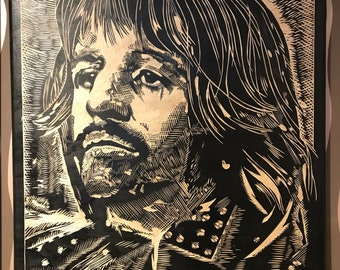 Handmade Engraving of Ringo Starr