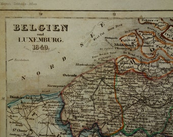 Old ghent map Etsy