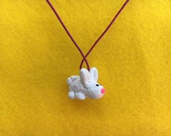 White Rabbit Necklace