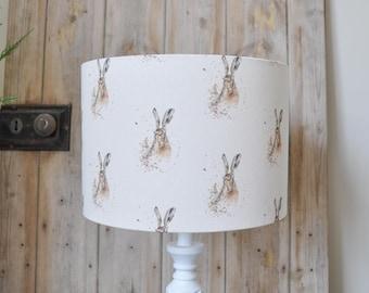 Hazel Hare lampshade New Print