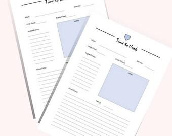 recipe binder sheets etsy ie