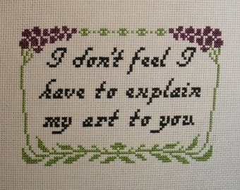 Empire Records Quote Cross-stitch Pattern