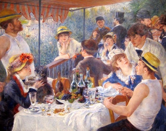 Pierre-Auguste Renoir: The Luncheon of the Boating Party. Fine Art Print/Poster (00181)