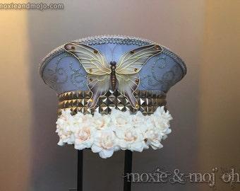 CUSTOM: Burning Man Hat, Captain Hat, LED light-up hat, custom burning man hat, Military Hat