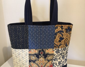Handmade Small Quilted Tote Bag, Quilted Handbag